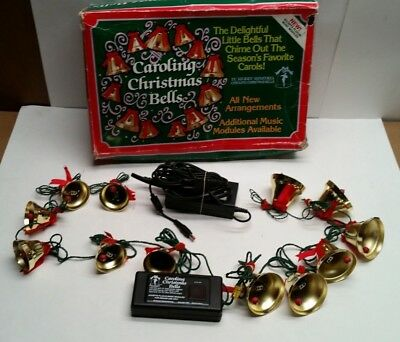 Ye Merry Minstrel Caroling Christmas 12 Bells Vtg Musical 25 Songs AUS 200