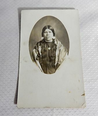 Real Photo Postcard Native American Woman