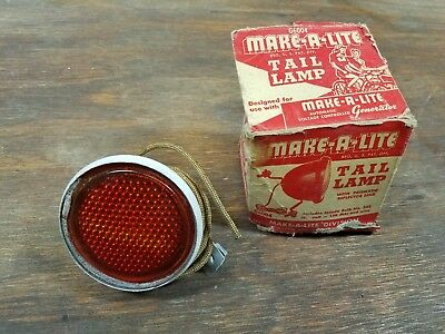 NOS Make-A-Lite Bicycle Tail Lamp Light Schwinn Elgin Hawthorne
