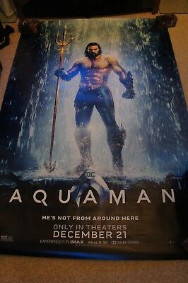 AQUAMAN 2018 BUS SHELTER MOVIE POSTER 4'x6' DS