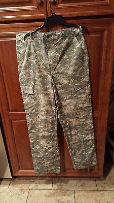 ACU Pants Trousers MED LONG Digital Camo USGI Cotton/Nylon Ripstop Army Combat