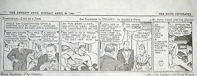 Superman Daily Comic Strips - April 1940 Detroit Newspapers - 13 Full Pages