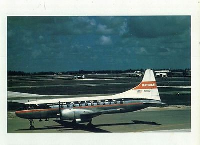 National Airlines Postcard CV-340 Convair N11150 from RARE Collection