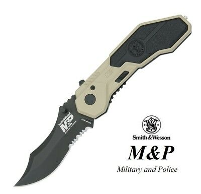 Smith and Wesson pocket knife M&P MAGIC Assisted Opening Serrated blade