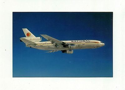 National Airlines Postcard DC-10 Sun King Logo from RARE Collection