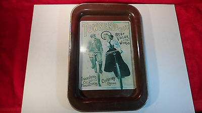"Vintage Tin TOWNEND CYCLES 14"" BY 9"" Tray  NEVCO -South Africa"