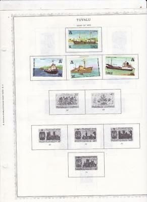 Small Mint Tuvalu Collection On A Minkus Album Page (1978-79) - SEE!!!