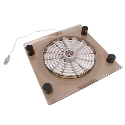 "Laptop 14.1""-15.4"" PC Notebook USB Cooling Fan LED Light Cooler Stand Pad"