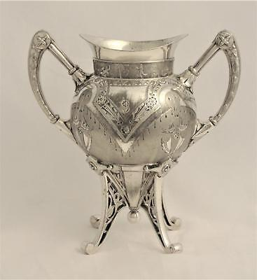 Victorian C1870's Silverplate Acid Ethced East Lake Spoon Holder