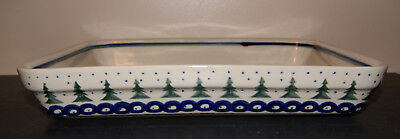 Older Boleslawiec Polish Pottery Christmas Baking Dish