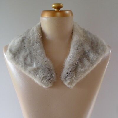 Vintage 1940s light grey mink shawl collar excellent