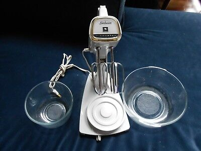 Vintage Retro Sunbeam Vista Mixmaster-Model V-14-Everything Works-Original Bowls