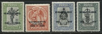 Papua 1935 overprinted Silver Jubilee set unmounted mint NH
