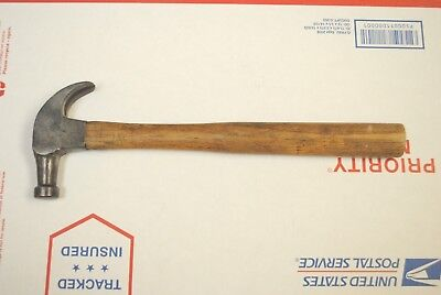 Vintage Maydole small curved claw nail hammer 8 oz 12 in long *RARE USA MADE*