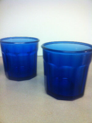 2 Cristal D'arques 500 Working Collection Cobalt Blue Tumblers 10 Panel