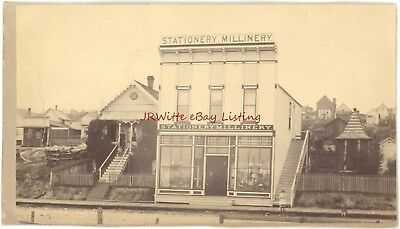 Stationery Millinery Store & Owners Home & Family - c. 1885 - Tacoma, WA