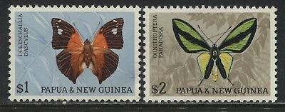 Papua & New Guinea Butterfly set $1 and $2 mint o.g.