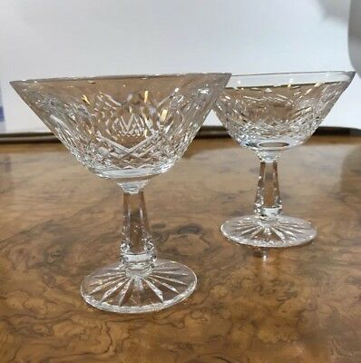 Lot Of 2 WATERFORD Crystal Lismore Essence Martini Cocktail 🍸 Diamond 💎 Glass