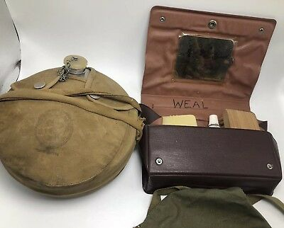 Vintage Boy Scouts Official Camping Canteen And Grooming Kit