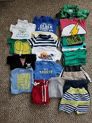 Baby boy clothes lot 12 months, 18 months