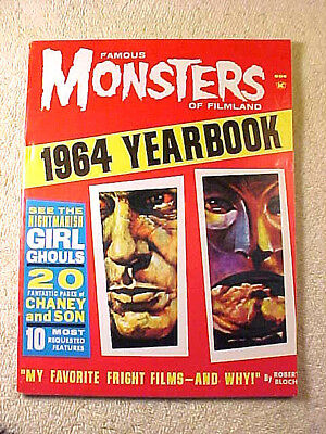 Famous Monsters Of Filmland 1964 Yearbook Vintage Monster Book Magazine
