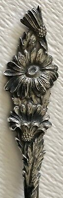 Antique Sterling Silver Souvenir Spoon Put In Bay Ohio July Daisy Watson Series
