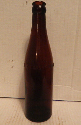 VINTAGE EARLY 1900's AMBER CROWN TOP BOTTLE THE GREAT ATLANTIC & PACIFIC TEA CO