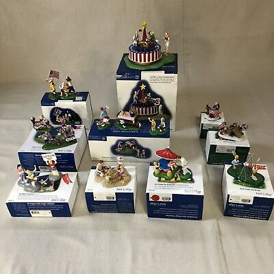 Lot: Department 56 - Snow Village / New England Village - 4th of July (10 items)