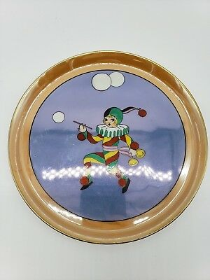 Noritake Art Deco Peach Clown Plate Luster 81
