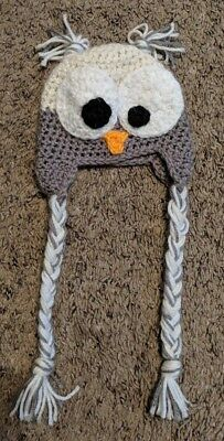Knitted Owl Stocking Cap Baby Clothes hat