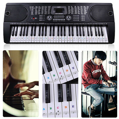 49, 54 ,61or 88-KEY Music Keyboard Piano Stickers for Speeds memory of the keys