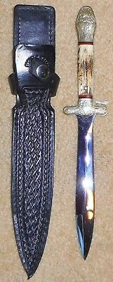 Samuel C.wragg Civil War Stag Dagger Fukuta - Japan - Black Sheath