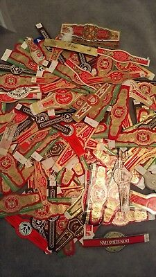 150 + Varied Cigar Bands For Collecting Crafting Or Hobby