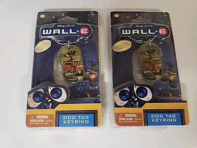 2 Wall-e Dog Tag Keyrings New In Package