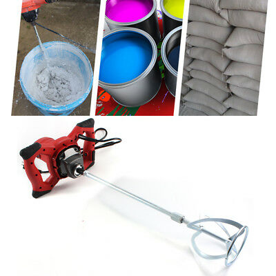 1500w 220v ELECTRIC PLASTER MORTAR PAINT CEMENT GROUT MIX STIRRER PADDLE MIXER