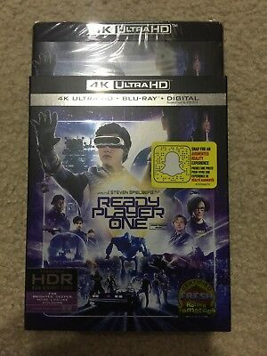 Ready Player One 4K (4K UHD/Bluray/Digital) With Slipcover Brand NEW FAST SHIP!