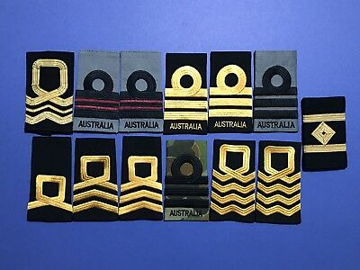RAN Royal Australian Navy Shoulder Epaulettes Rank Slides