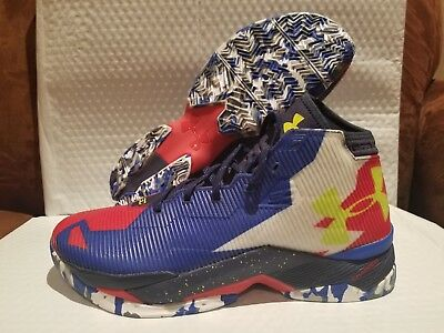 innovative design 5e48a 95192 UNDER ARMOUR CURRY 2.5 Red White Blue Size USA Basketball Shoes 11.5  1274425-402