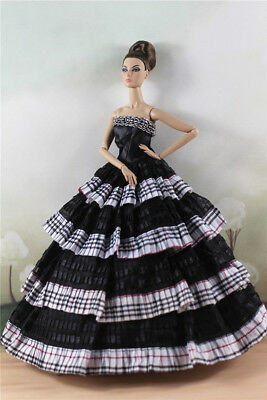 Fashion Princess Party Dress/Evening Clothes/Gown For Barbie Doll M4