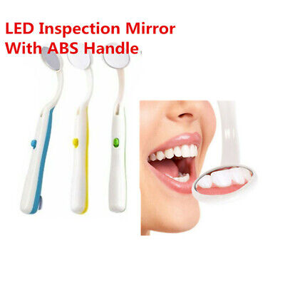 Dental Mirror LED Bright Lighted Teeth Mouth Inspection Mirror 4colors