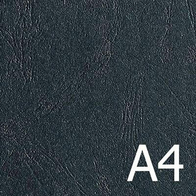 Black A4 Premium Leathergrain Covers 300gsm (Pkt 100), LGBKA4300