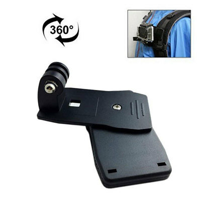Rotating 360° Quick Clip Mount for GoPro HERO 6 5 4 3 Backpack Rucksack Hat