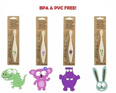 Jack n Jill Toothbrush - get Full collection (Bunny + Dino + Hippo + Koala)