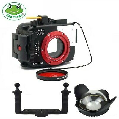 Seafrogs 60m Underwater Camera Housing for Olympus TG5 + Dome Port + Diving Tray
