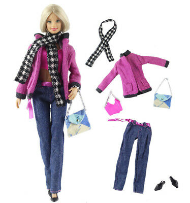 1 Set Fashion Handmade Doll Clothes Outfit for Barbie Doll L21