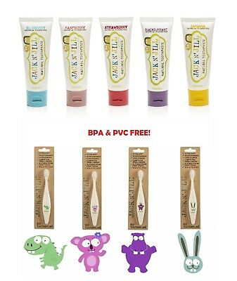 Jack n Jill toothpastes (5 flavours) + toothbrushes (4 characters)