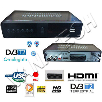 Decoder Full Hd 1080 Mpeg4 Dvb-T2 Digitale Terrestre Scart Hdmi Jpeg Usb Nuovo