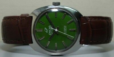 Superb Vintage Enicar Winding Swiss Made Mens Wrist Watch s207 Old Used Antique