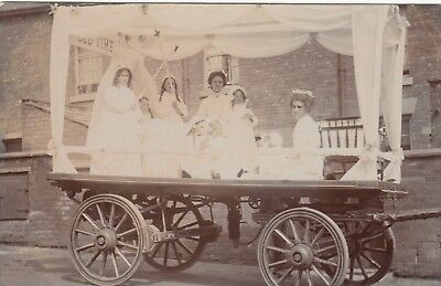 Ceremonial Float, From a Marple, Cheshire area collection, RP, old postcard