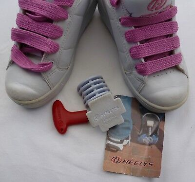Authentic Heeleys Roller Shoes Pink & White Girls Us3/uk1 With Or Without Wheels
